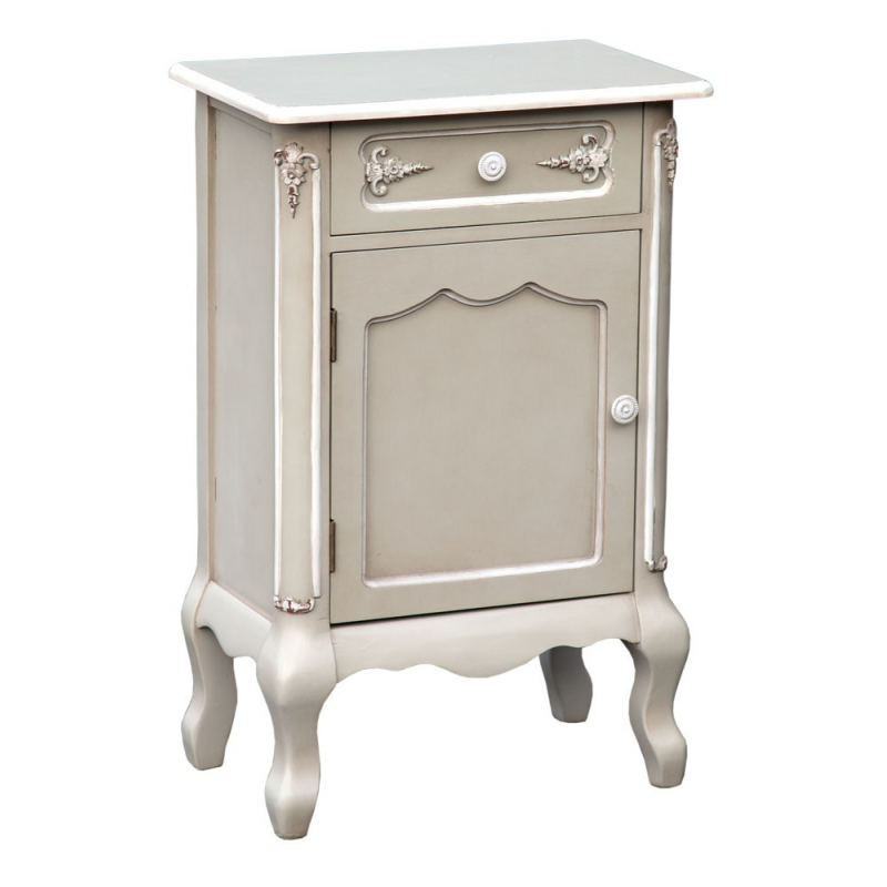 Grey Christian French Bed Side Lamp Table Cabinet