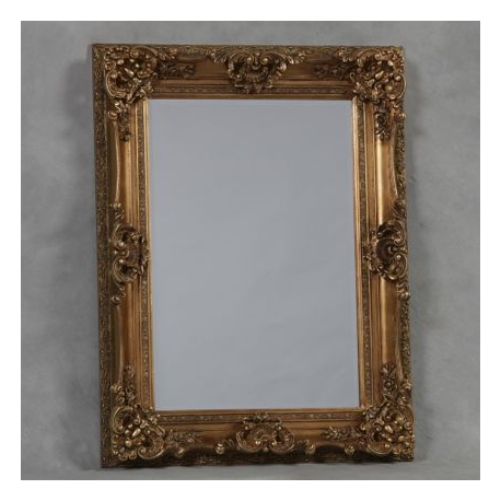 Antique gold small regal mirror for Small gold mirror