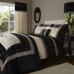 Catherine Lansfield Black Geo Pattern Bedding