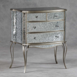 Provence Mosaic Champagne Gold Detailed 2 Over 2 Chest Of Drawers