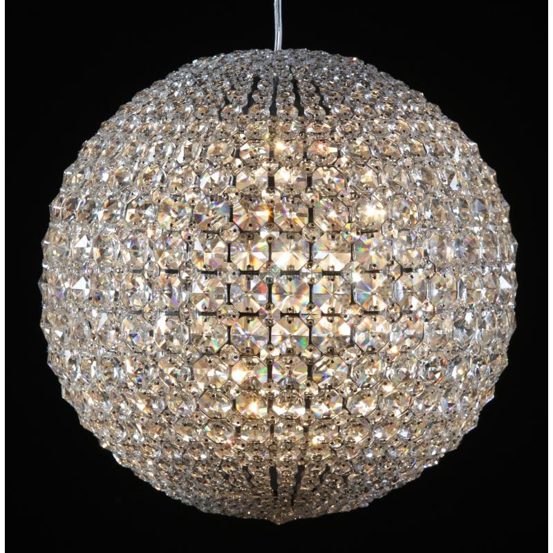 ceiling lights chrome framed fine crystal large ball chandelier