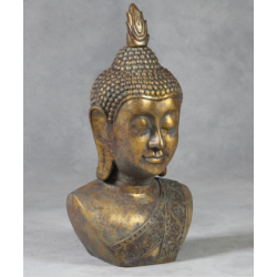 Extra Large Antiqued Gold Indian Buddha Statue