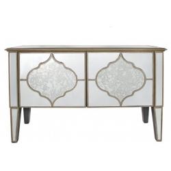 Morocco 2 Door Mirrored Sideboard Cabinet