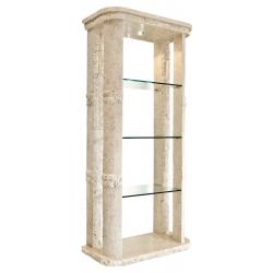 Mactan Stone Rockedge Etagere Shelf Unit with Light