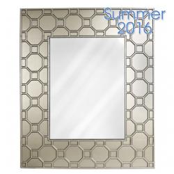 Large Gold Geo Wall Mirror
