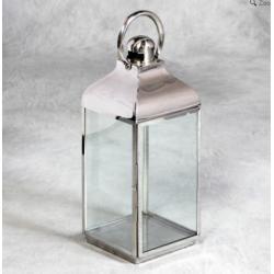 Medium Square Polisged Steel Lantern