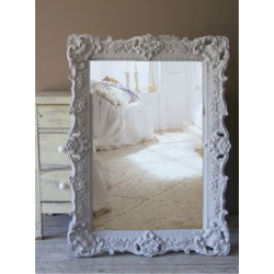 Country Grey Ornate Wall Framed Mirror