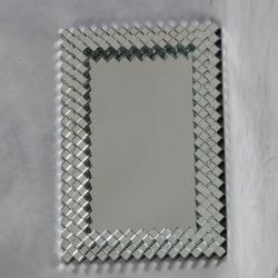 Large Deco Venetian Dice Border Mirror