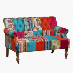 Large 2 Seater Patchwork Sofa