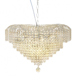 Large Crystal Waterfall Chandelier