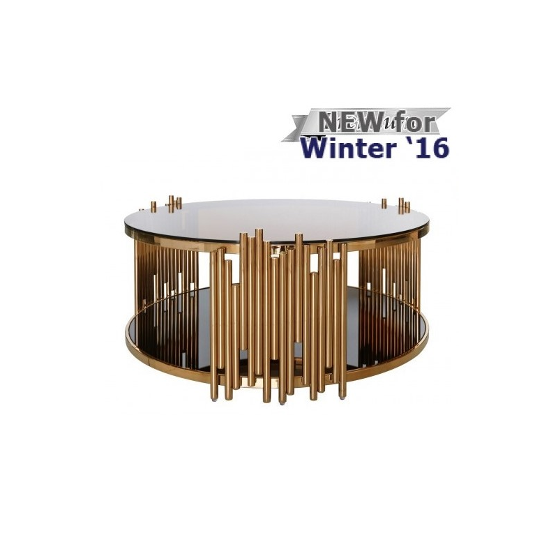 Gt coffee tables gt lorenzo metal amp glass round coffee table rose gold