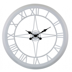 Medium White Compass Style Skeleton Wall clock