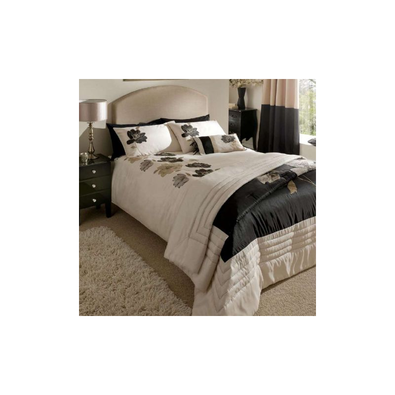 amp bedding sets gt catherine lansfield black amp cream lotus bedding