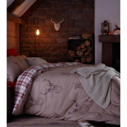 Catherine Lansfield Stag Head Print Bedding