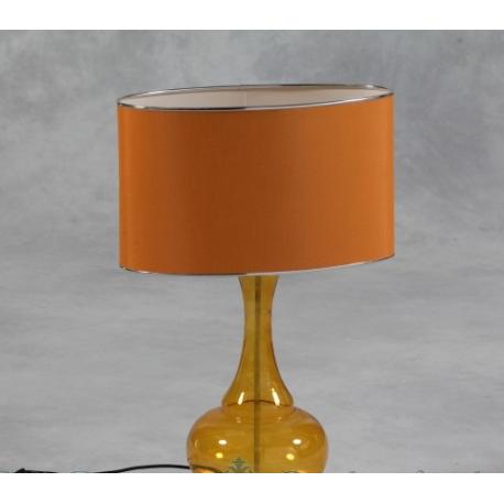 Lighting gt lamps gt orange glass table lamp with orange silk thread