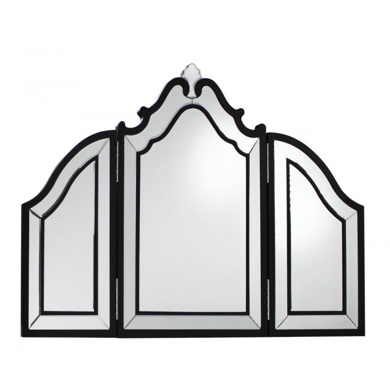 Black trim venetian dressing table mirror forever for Black venetian mirror