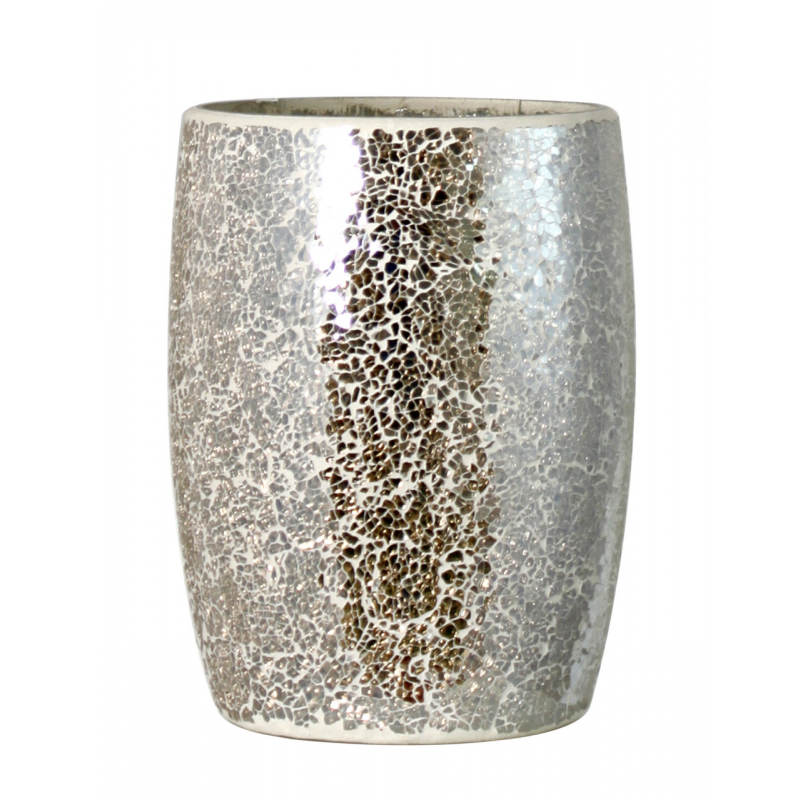 Mercury sparkle mosaic waste bin forever furnishings for Decorative items from waste