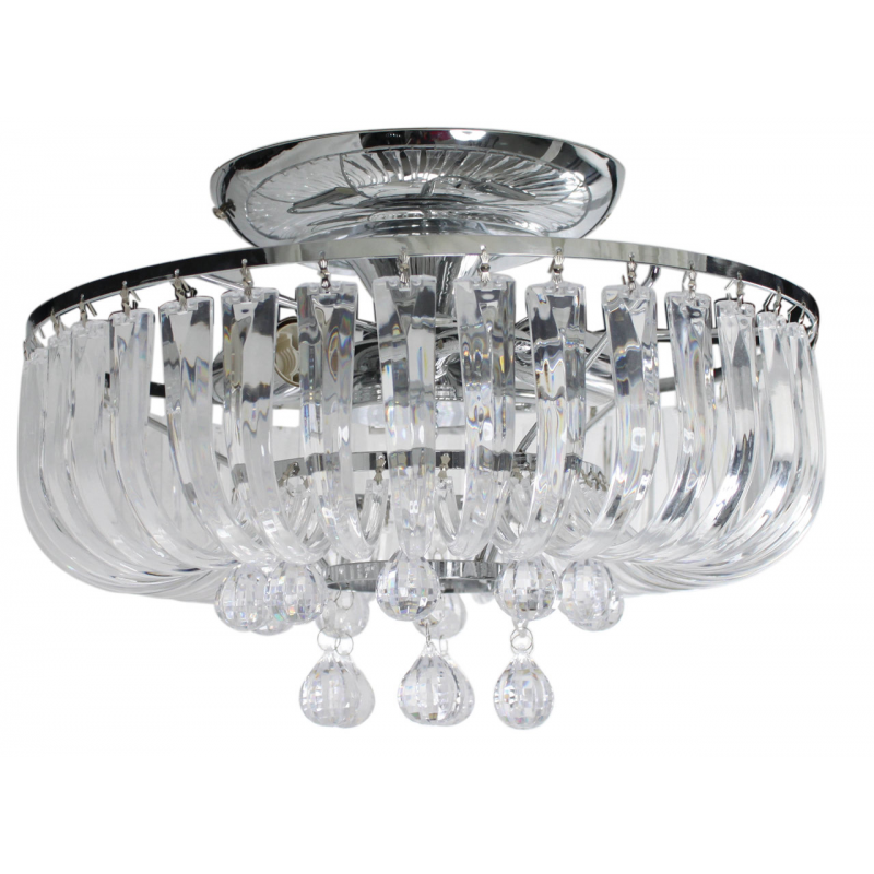 Eva 3 Lamp Electric Round Pendant Ceiling Light
