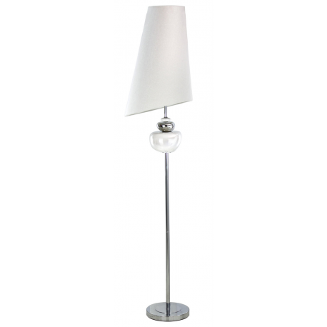 White pebble floor lamp with white slanted shade forever for Large pebble floor lamp