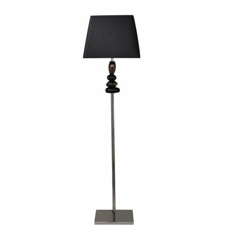 Black and gold pebble floor lamp with black shade for Large pebble floor lamp