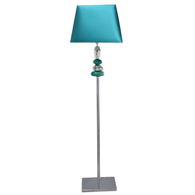 Cobalt blue and chrome pebble floor lamp forever for Large pebble floor lamp