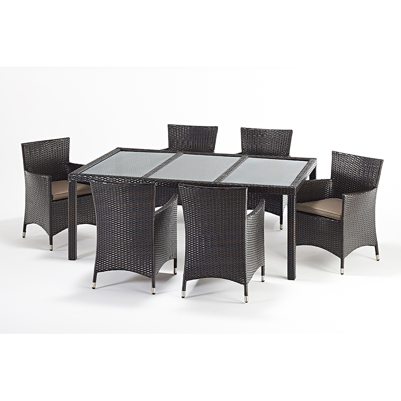 Port Royal Luxe Rectangular 6 Chair Dining Set Forever