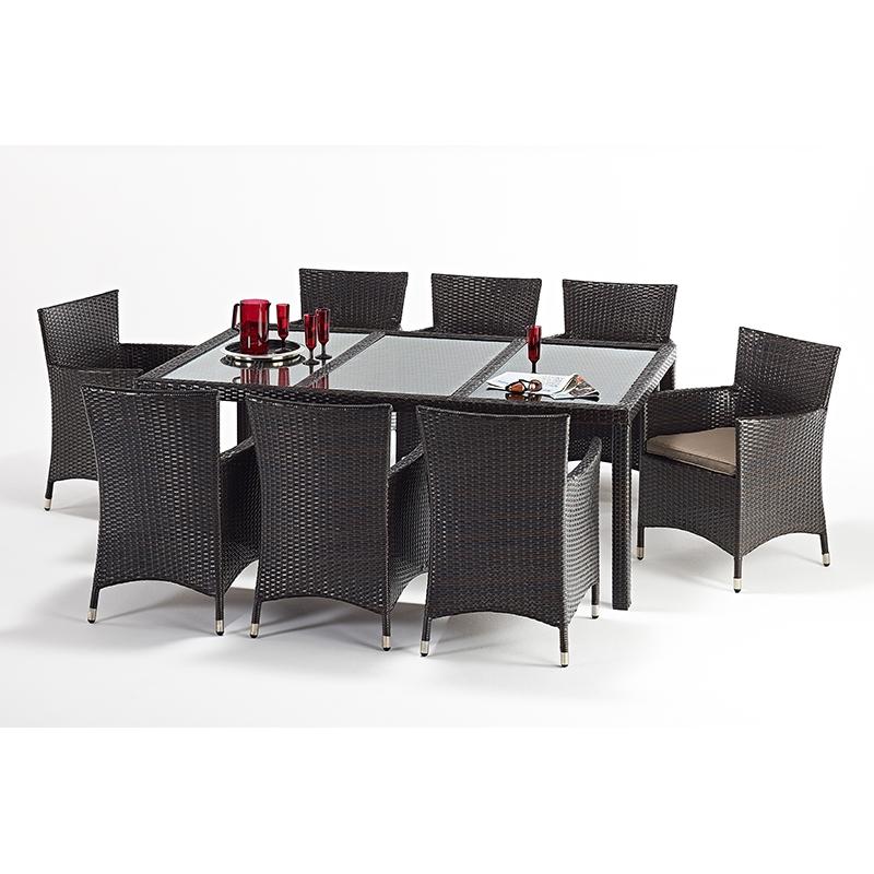 Port Royal Luxe Rectangular 8 Chair Dining Set Forever
