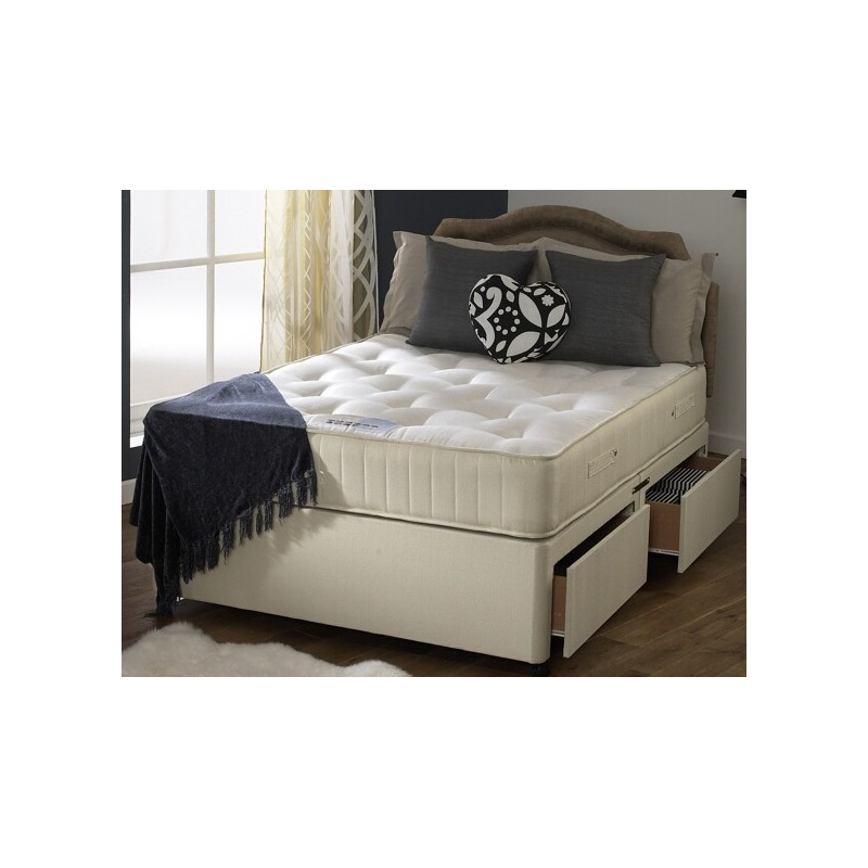 Orthopaedic divan bed and mattress set forever for Box divan beds