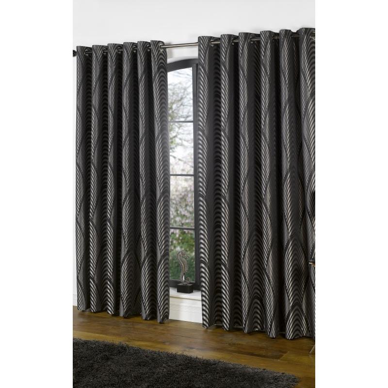 curtains tiebacks dakota black and silver curtains pair