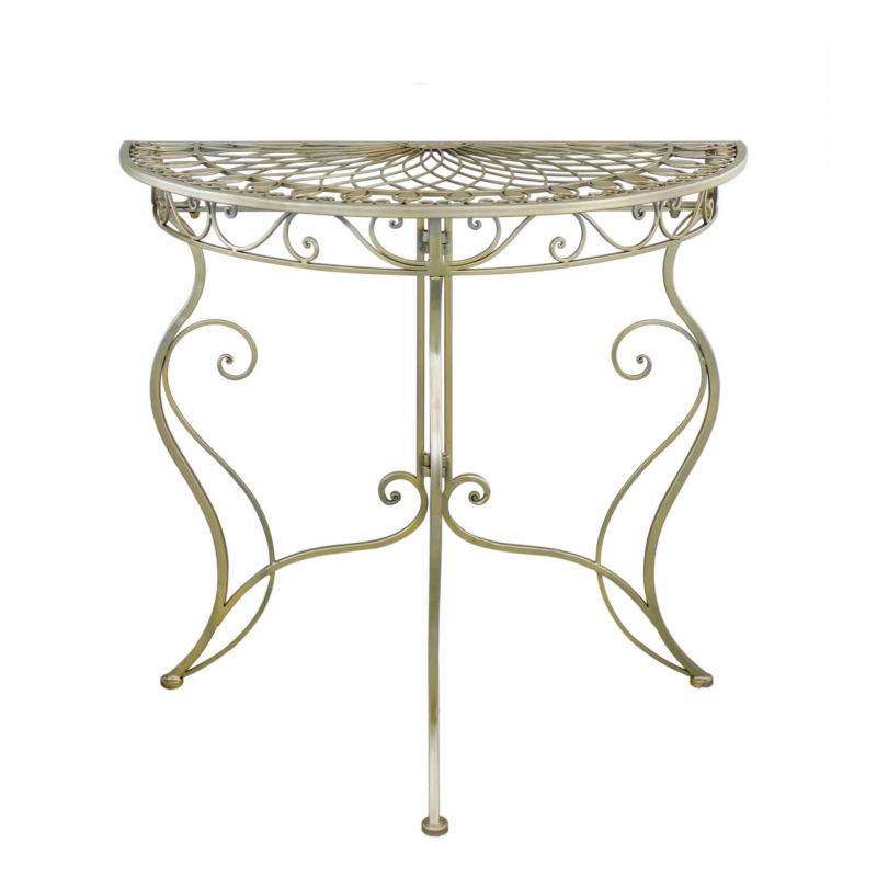 28 scroll console table summer gold metal scroll console ta