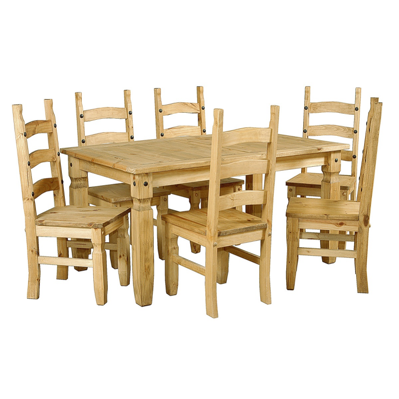 Corona Large Distressed Light Pine Dining Table 6 Chairs  : corona large distressed light pine dining table 6 chairs from www.foreverfurnishings.co.uk size 800 x 800 png 563kB