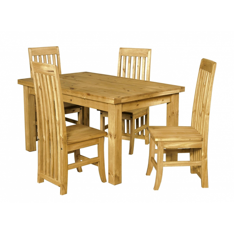 Salto Small Waxed Solid Pine Table And 4 Chairs Forever