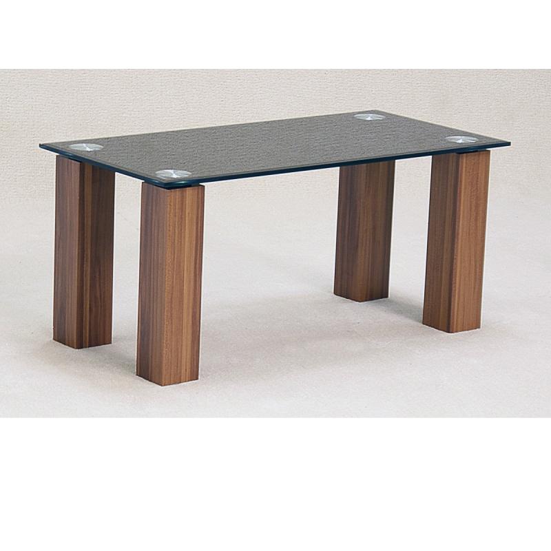 Mirage Black Glass Oak Coffee Table