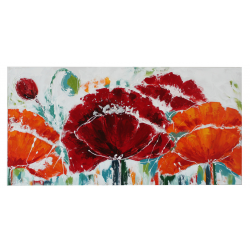Tuscan Red Poppies Long Canvas