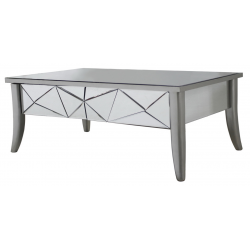 Champagne Trim Mirror Glacier Coffee Table