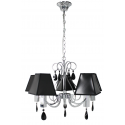 Francesca 5 Light Pendant With Black Shade