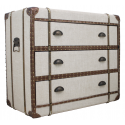 Vintage Hessian Finish Chest Of Drawers