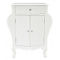 White Wooden Double Cupboard Cabinet