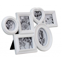 White Large Multi Photo Frame