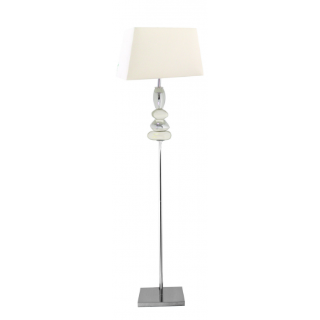 White and chrome pebble floor lamp with square shade for Large pebble floor lamp