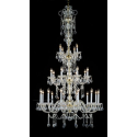 Gold 3 Tier Chandelier With Swarovski Crystal