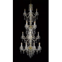 Crystal Gold Chandelier Murano - 4 Tier