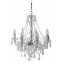 Clear Electric 7 Light Princess Pendant