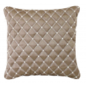 Mocha Pearl Studded Cushion