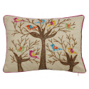 Sequin Bird Tree Cushion