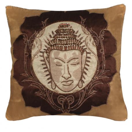 Chocolate Gold Buddha Cushion