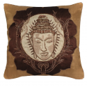 Chocolate Gold Buddha Cushion