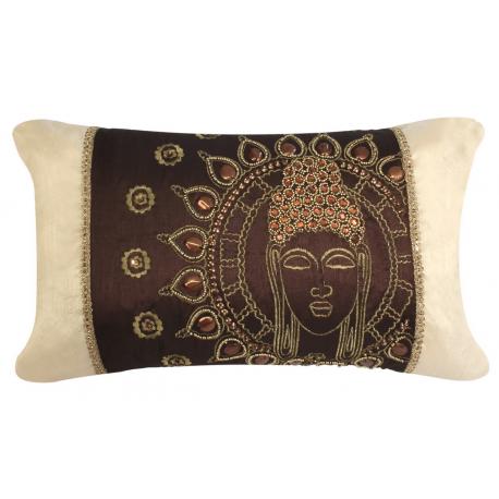 Chocolate Gold Sunny Buddha Cushion