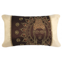 Chocolate Gold Sunny Buddha Cushion