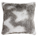 Timber Wolf Faux Fur Cushion